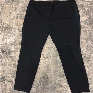 Black Loft Dress Pants W/ velvet side stripe NWT